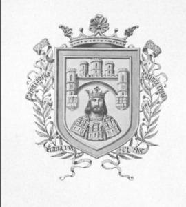 Escudo de Burgos en Blanco y Negro